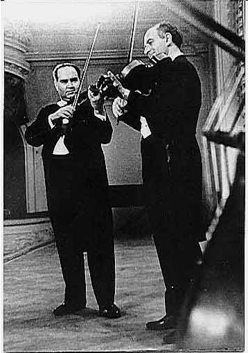 Barshai Oistrakh playing without a shoulder rest