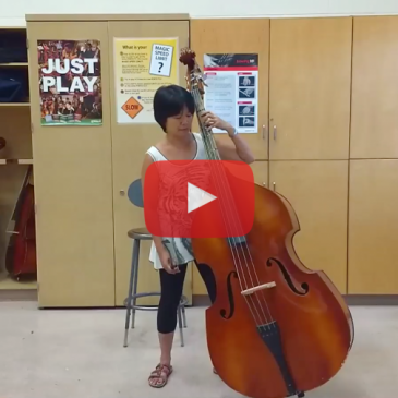 Holding the Double Bass in Standing and Sitting Positions – Video