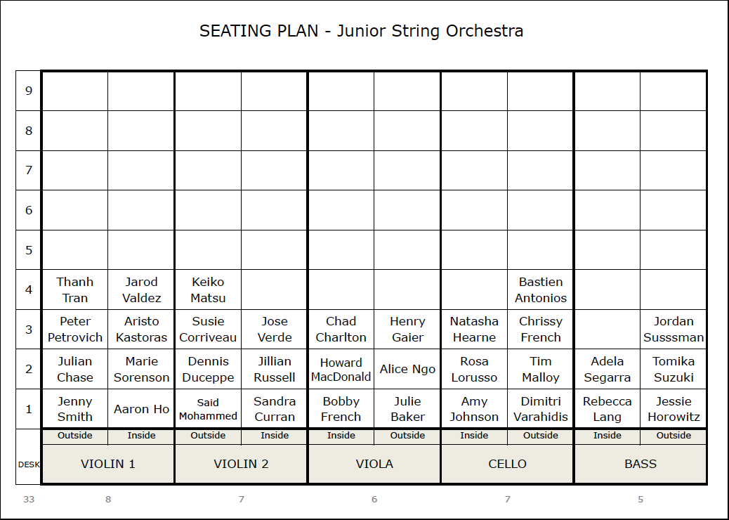 seating plan template for string orchestra
